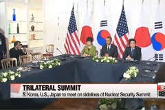 Pres. Park to hold trilateral summit with Obama, Abe during Nuclear Security Summit