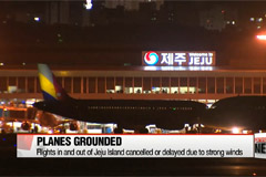 Flights in and out of Jeju Island cancelled or delayed due to strong winds