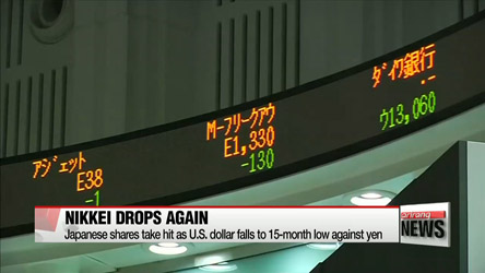 Japan's Nikkei dives below 15-thousand, lowest in 16 months