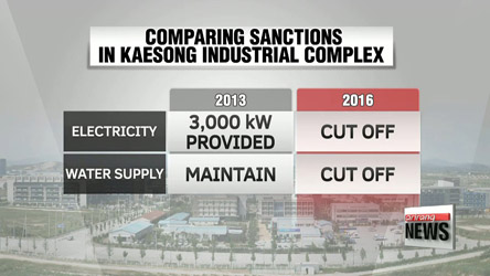 S. Korea cuts off electricity in Kaesong Industrial Complex