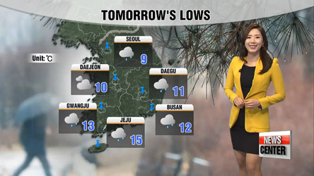 Rainy Saturday, cold snap returns on Sunday