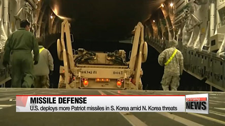 U.S. deploys more Patriot missiles in S. Korea amid N. Korea threats