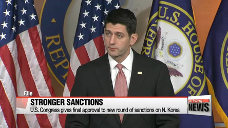 U.S. Congress adopts expanded sanctions on N. Korea