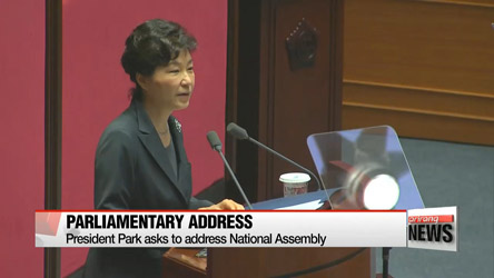 President Park to address National Assembly on Tuesday