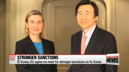 S. Korea, EU agree on need for stronger sanctions on N. Korea