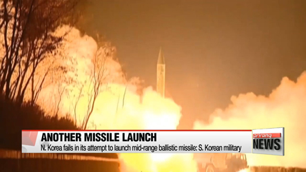 N. Korea fails in its attempt to launch mid-range ballistic missile: S. Korean military