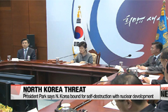 'No future for N. Korea with another nuke test': President Park