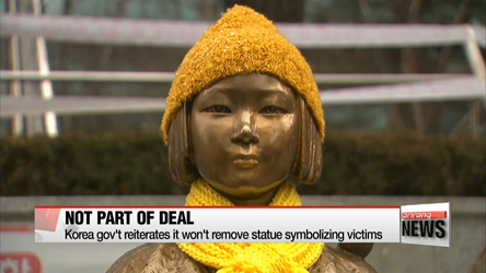 Korean gov't reiterates removal of 'comfort women' statue not part of December 28th deal