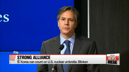 S. Korea can count on American troops, U.S. nuclear umbrella: Blinken