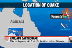 Powerful magnitude-7.3 quake hits off Vanuatu in South Pacific