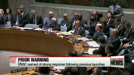 UN Security Council convenes emergency meeting following N. Korea's ballistic missile launches