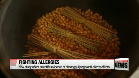 New study offers scientific evidence of cheonggukjang's anti-allergy effects