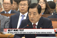 N. Korea ready to test nukes at anytime: S. Korean defense minister