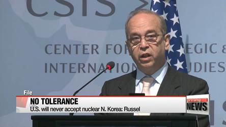 U.S. will never accept nuclear N. Korea: Russel