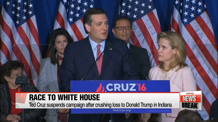 Ted Cruz suspends campaign after crushing loss to Donald Trump in Indiana