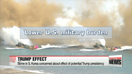 Some in S. Korea concerned about effect of potential Trump presidency