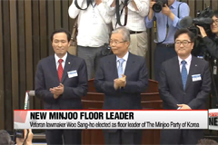 Veteran lawmaker Woo Sang-ho elected as floor leader of Minjoo Party of Korea