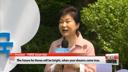 'Children are the hope for our future' President Park calls on N. Korea to care for its people