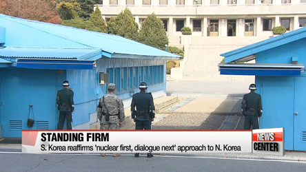 S. Korea stands firm on denuclearization efforts before inter-Korean dialogue