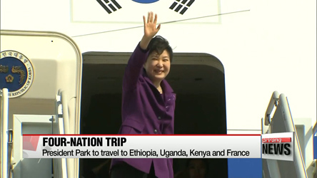 President Park to leave for state trips to Africa and France