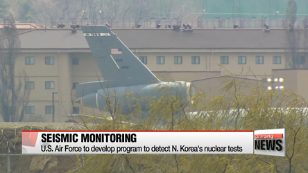 U.S. Air Force to develop program to detect seismic waves from N. Korea nuke tests