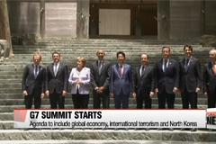 G7 Summit opens with global economy, international terrorism and North Korea topping agenda