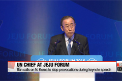 UN chief calls on N. Korea to stop provocations, calls for more cooperation in Asia