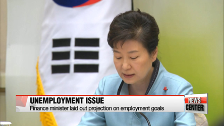 Finance minister Yoo Il-ho lays out projections on Pres. Park's employment target