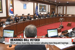 Gov't vetoes Assembly Act revision allowing more frequent hearings