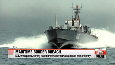 N. Korean patrol, fishing boats briefly cross western sea border