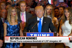 Trump secures enough delegates to clinch Republican nomination