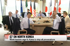 G7 statement condemns N. Korea nuclear test and missile launch