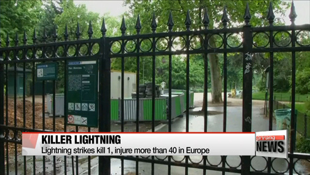 Lighting storms kill 1, injure more than 40 in Europe