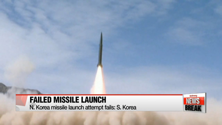 N. Korea missile launch attempt fails: S. Korea
