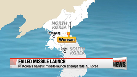 North Korea's fourth Musudan missile launch ends in failure