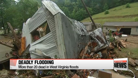 More than 20 dead in West Virginia floods