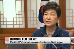President Park orders measures to minimize Brexit impact
