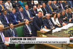 Brexit: Cameron stresses outcome must be accepted