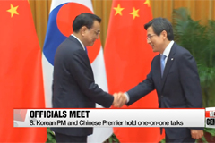 PM Hwang Kyo-ahn presses Chinese Premier to take measures against illegal fishing activities