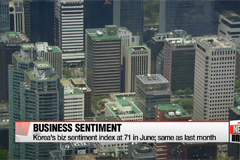 Korea's biz sentiment remains sluggish in June