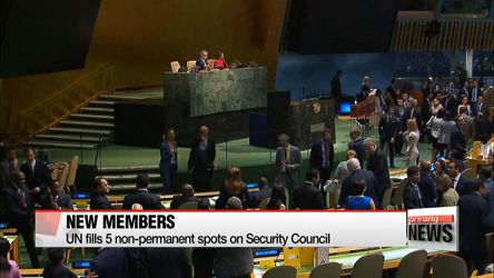 UN Security Council elects new non-permanent members