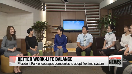President Park visits local company to promote flextime system