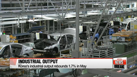 Korea's industrial output rebounds in May