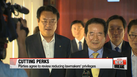 Parties agree to review reducing lawmakers' privileges