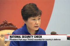 President Park calls for national support on THAAD deployment