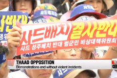 THAAD opposition rally end without big clashes