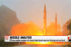 S. Korean military clarifies missile types in N. Korea's latest launch
