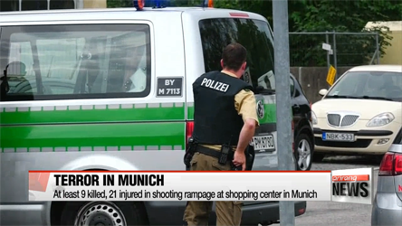 At least 9 killed, 21 injured in shooting rampage in Munich