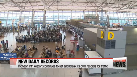 Incheon int'l airport to set new air traffic record