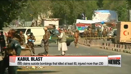 At least 80 killed in suicide bombings in Kabul demonstration